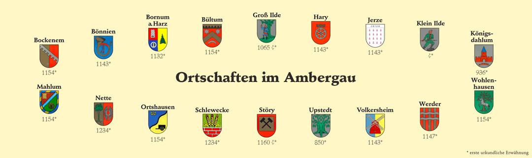 Ortschaften im Ambergau